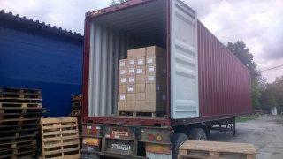 08.07. г. Хабаровск, выгрузка 390 контейнера