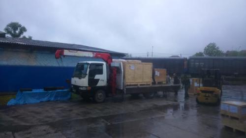 04.06. г. Хабаровск, выгрузка 710 контейнера